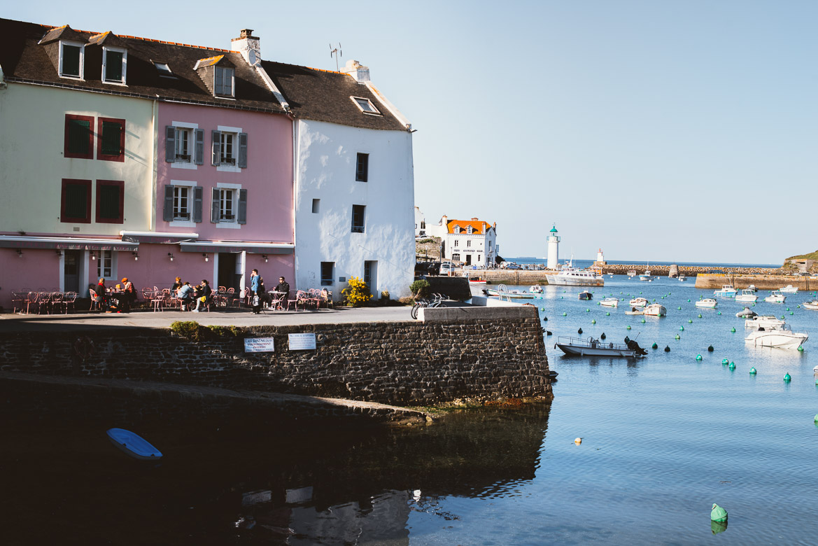Le port de Sauzon à Belle-Ile - Blog En Selle Gisèle